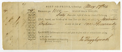 Port-au-Prince, 1796. Broadside, 4 x 9 1/2 inches, docketed on verso. Minor toning and corner wear. ...
