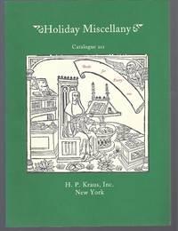 Catalogue 212: Holiday Miscellany