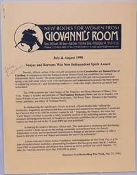 image of New Books for Women from Giovanni's Room [catalog] July & August 1998: Seajay & Bereano Win New Independent Spirit Award