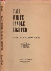 Tall White Candle Lighted