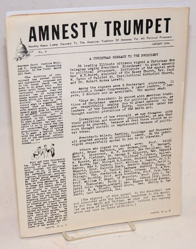 New York: National Committee to Win Amnesty for the Smith Act Victims, 1954. Four issues of the news...