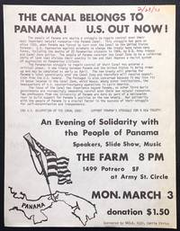 image of The Canal belongs to Panama! US out now! [handbill]