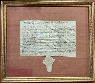 1689. very good(+). Manuscript Document signed, on vellum,