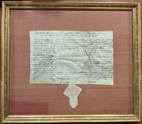 Manuscript Document Signed, Wm. Markham