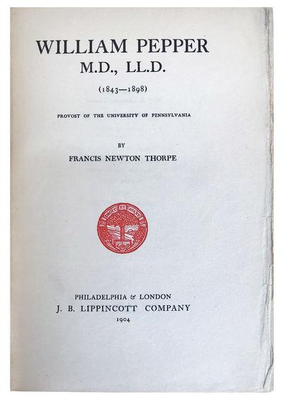 Philadelphia:: J. B. Lippincott, 1904., 1904. Thick 8vo. 555, pp. Frontis. portrait, illus., index. ...