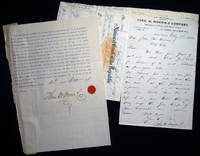 1882 Letter Signed with Related Ephemera, From Theo. W. Morris & Company, Importers of Plate and Sheet Glass New York, NY Regarding the Resolution of a Bankruptcy and Payments