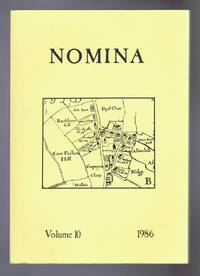 Nomina. Vol. 10 - 1986, A journal of name studies relating to Great Britain and Ireland