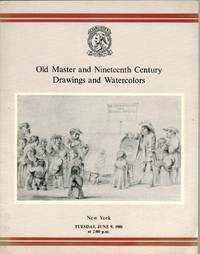 Old Master and Nineteenth Century Drawings and Watercolors. 9 June 1981.