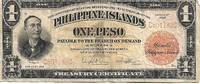 Philippine Islands - 1 (One) Peso Gold / Silver Certificate Banknote (1929)