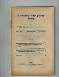 image of Transactions of the Faraday Society, Vol. II, Part 3, February, 1907