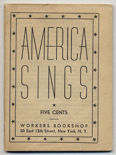 New York: Workers Bookshop, 1940. Unbound. Very Good. First edition. 16mo. 61, pp. Stapled printed w...