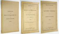 image of STATE OF MAINE: 3 PAMPHLETS (#1) OPINIONS OF THE JUSTICES OF THE SUPREME  JUDICIAL COURT....1880 (#2) REGISTER OF THE HOUSE OF  REPRESENTATIVES....1876. (#3) RULES OF THE VALUATION COMMISSION....1880.
