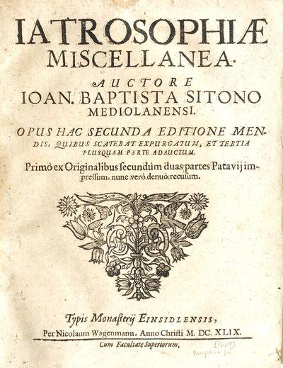 Iatrosophiae Miscellanea