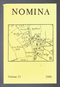 Nomina. Vol. 23 - 2000. Journal of the Society for Name Studies in Britain and Ireland