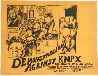 San Francisco: n.pub, 1970. 11x8.5 inch mimeographed leaflet, artwork depicts three monkeys in the r...