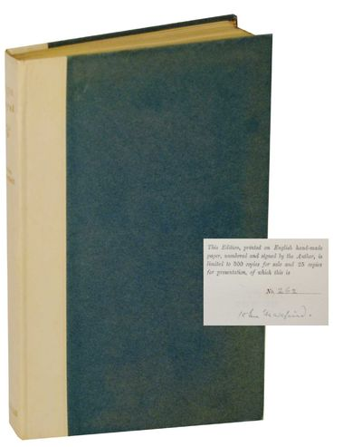 London: William Heinemann, 1920. First edition. Hardcover. 119 pages. Number 262 of 500 copies. A ve...
