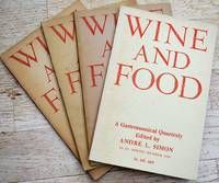 image of WINE AND FOOD A Gastronomical Quarterly 1947 [4 issues]