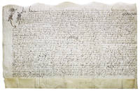 Manuscript indenture from the reign of Queen Elizabeth relating to London property