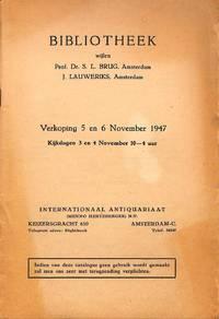 Verkooping 5-6 November 1947: Bibliothek Wijlen Prof. Dr. S. L. Brug, J.  Lauweriks.