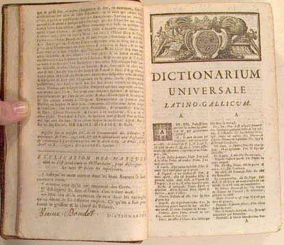 1721. BOUDOT, Jean. DICTIONARIUM UNIVERSALE LATINO-GALLICUM, ex Omnibus Latinitatis Auctoribus summa...