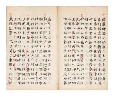 Two parts in one vol. 25, 13 folding leaves. 8vo (198 x 135 mm.), orig. wrappers (rubbed), old stitc...