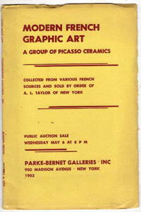 Modern French Graphic Art: A Group of Picasso Ceramics Public Auction Sale Wednesday May 6 at 8 Pm