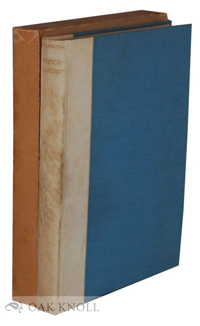 London, England: Geoffrey Bles, 1928. quarter vellum, cloth, top edge gilt, other edges uncut, paper...