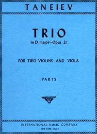 Trio in D Major, Op.21 for Two Violins and Viola [COMPLETE SET of THREE PARTS]