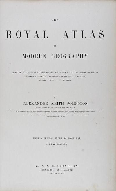 Edinburgh: W. & A. Johnston, 1879. New Edition. Hardcover. g. Elephant folio. Gold-lined leather cor...