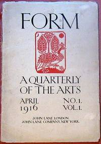 FORM. A Quarterly Journal Containing Poetry, Sketches, Articles of Literary and Critical Interest Combined with Prints, Woodcuts, Lithographs, Calligraphy, Decorations and Initials. Edited by Austin O. Spare and Francis Marsden. [Cover Title: FORM. A Quarterly Of The Arts].