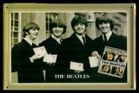 THE BEATLES - TIME TRAVEL - Tin Picture Plaque by The Beatles (Ringo Starr; John Lennon; Paul McCarthey; George Harrison) - First Printing - First Thus - 1978 - from W. Fraser Sandercombe and Biblio.com