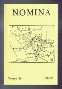 Nomina. Vol. 16 - 1992-93. Journal of the Society for Name Studies in Britain and Ireland