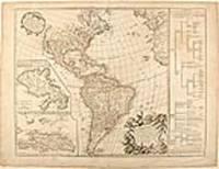 Amérique Septentrionale et Meridionale divisée en ses principales parties par les S[ieu]rs Sanson ... rectifiée suivant les nouvelles découvertes ... par le S[ieu]r. Robert