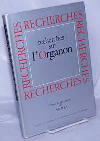 image of Recherches sur l'Organon