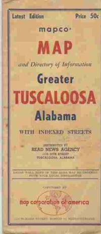Map and Directory of Information Greater Tuscaloosa Alabama by No Author Listed - First Impression - from A Book Legacy and Biblio.com
