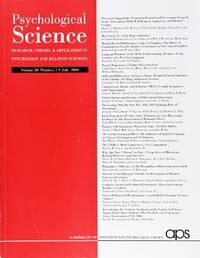 image of Psychological Science (Volume 20, Number 7, July 2009)
