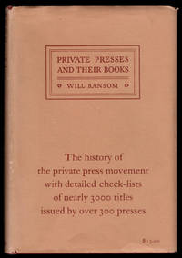 image of PRIVATE PRESSES AND THEIR BOOKS.