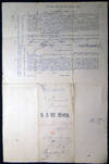 View Image 4 of 5 for 1862 Port of Philadelphia Manuscript & Printed Bill of Lading Entry of Merchandise Customs Duties fo... Inventory #25426