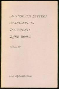 Autograph Letters, Manuscripts, Documents (Catalogue 147)