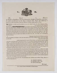The ---- Day of 18 ----. This is to Our Sheriff of Sheriffdoms.. by Broadside; Temperance; Great Britain - 1840 - from The Lawbook Exchange Ltd (SKU: 71888)