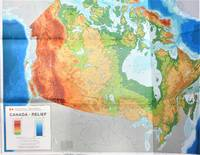 image of Canada-Relief. Large Fold-Out Colour Map