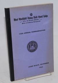 image of Proceedings of the M. W. Prince Hall Grand Lodge; free and accepted masons of the State of California, one hundred and tenth annual communication, held at Long Beach, California, 19th, 20th, 21st, and 22nd of July, 1965, A.L. 5965