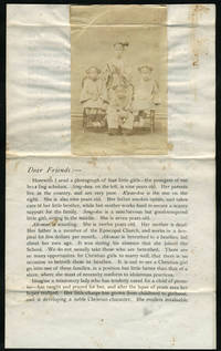 China Missions circular with CDV photograph of mission girls