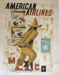 AMERICAN AIRLINES, MEXICO. (Original Vintage Poster)