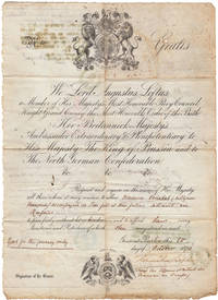 [Franco-Prussian War printed and manuscript Passport for travel to Russia beginning]: We, Lord...