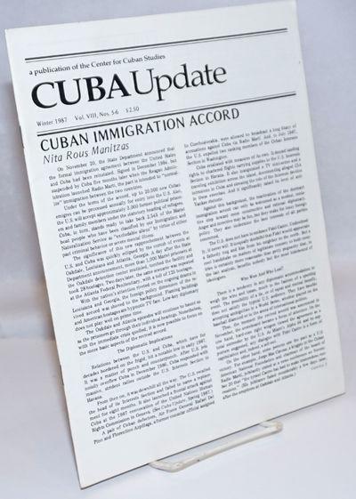 New York: Center for Cuban Studies, 1993. Magazine. 52p., stapled wraps, 8.5 x 11 inches, illus., wr...