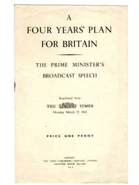 A Four Years' Plan for Britain, Broadcast of 21 March 1943