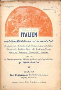 Catalogue 246/(1901): Italien vom frühen Mittelalter bis auf die neueste  Zeit.