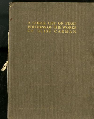 New York: Privately Printed, 1915. First Edition. Softcover. Near Fine Condition. Slight wear to cov...
