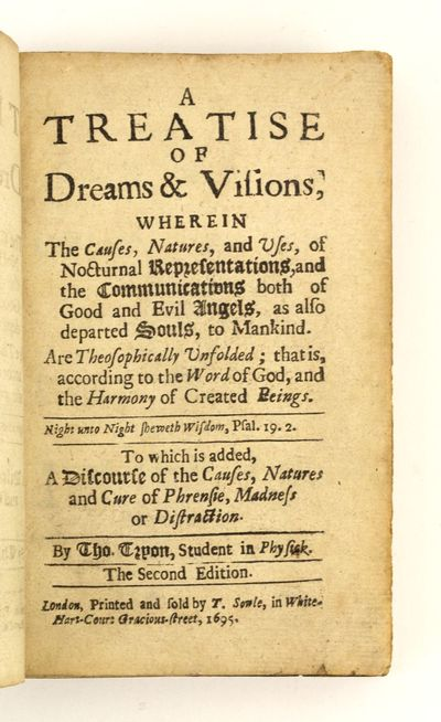 (MADNESS). A TREATISE OF DREAMS &...